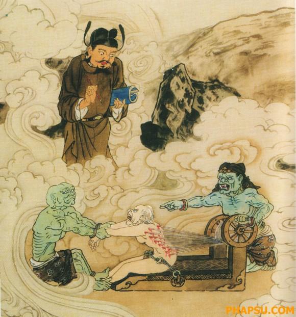 Thạch Ma Địa ngục: người nàocậy mình có quyền rồi ức hiếp dân lành thì sẽ  vô đây. 18. Đao Cư Địa Ngục: tầng này dành cho những người buôn bán dối trá.